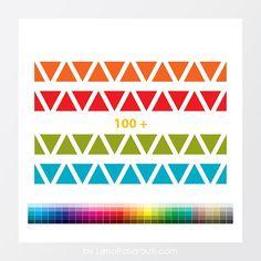 DIY : 100+ PNG, Digital border, Triangle Graphics, Tribal Indian Native AmericanTravel Prints, Instant Download , Digital craft supplies, Printables, Scrapbooking