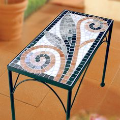 Mosaic Tile Art, Mosaic Glass, Mosaics, Mosaic Furniture, Mosaic Projects, Mosaic Designs, Mondrian, Flora, Crafts
