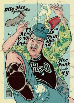 H2O Gig Poster by Ink Bad Company, via Behance