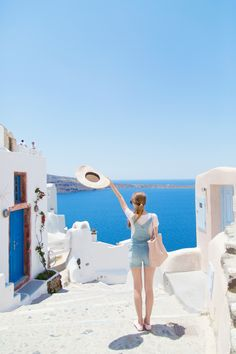 Santorini, Greece. Celebrate summer with Costes! #COSTESTRAVEL #COSTESFASHION #BRAINYDAYS @michellekluit x @costesfashion