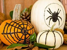 Glam Glittered Pumpkins - Our 55 Favorite Halloween Decorating Ideas on HGTV