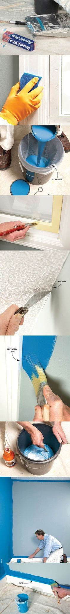 A veteran painting contractor shares his secrets for painting walls fast, yet producing first-rate results. home improvement hacks
