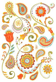 Bohemian Paisley and floral flower print pattern for hipsters, bohemians, and those with chic great taste for home decor, crafts and cards Paisley Art, Paisley Flower, Paisley Design, Floral Flowers, Paisley Doodle, Pattern Art, Print Patterns, Paisley Pattern, Pattern Ideas