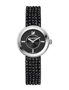 Swarovski Piazza Mini Jet and Stainless Steel Watch