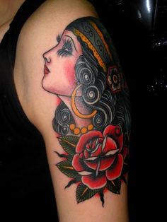 pretty lady with rose
