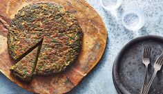 The kuku sabzi is a Persian herb and greens frittata, but this dish is way more exciting your average crustless quiche or omelet. The amount of bri...