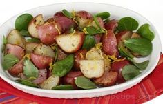 Red Potatoes with Purslane Recipe from RecipeTips.com! ~ Did you know Purslane was even edible? It's that succulent that spreads all over your garden; grows wild many places. See the images at http://www.worldcrops.org/crops/Verdolaga.cfm especially the center one so you can identify it if you have it already.