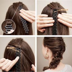 Hair Styling Tools updo fashion up hair accessories hair dresser French Braid Roller With Magic hair Twist barber Braiding - Hair Twist Styles, Long Hair Styles, Braid Styles, French Braid Tool, Afro, Plaits Hairstyles, French Hair, Magic Hair, Pin On