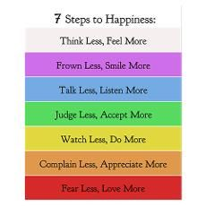 7 Steps to Happiness Poster Poster