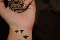 bird on wrist tattoo - Google Search