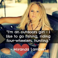 #MirandaLambert is Country Strong!  #CountryGirl #CountryQuotes