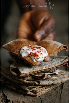 Rye Pita Bread + Labneh