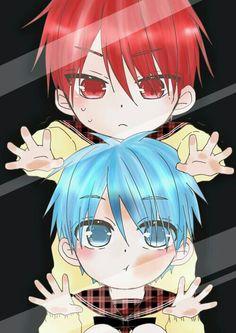 Akashi and Kuroko from Kuroko No Basuke #anime #manga