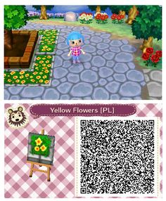Yellow Flower Planter by Quirkberry - Animal Crossing: New Leaf
