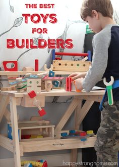 Encouraging Engineering: The best toys for little builders are open ended, allowing the child's imagination to be exercised through interacting with the toy. It's also great when toys can be shared, combined, or if project instructions are included for kids to get a jump start. But really, all kids require are a bunch of pieces and a few tools to get their building juices flowing!