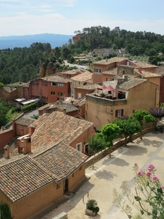 Roussillon view across the old town