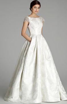 Courtesy of Alvina Valenta Wedding Dresses from JLM Couture; Wedding dress idea. #weddingdressideas