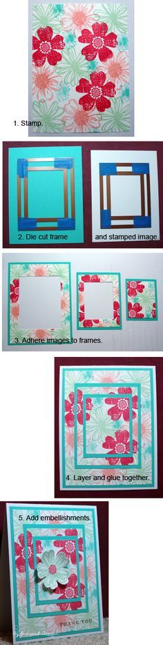 By Seongsook. Triple Die Cutting (rather than Triple Time Stamping). See her website for more instructions.
