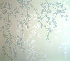 Cherry Blossom Silhouette Stencil 1