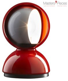 Masters' Pieces - Eclisse Table lamp Red by Artemide - Design furniture and decoration with Made in Design
