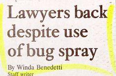 Long Lost Dumbass Newspaper Headlines!
