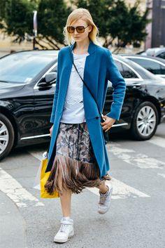 street style paris fw15 falda flecos