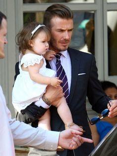 David Beckham & Harper London: Star Snapshots: Celebrity Kids and Family Photos 2012