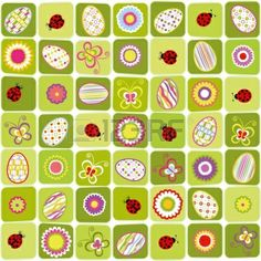 Abstract Easter holiday colorful seamless pattern background Stock Photo - 12491023