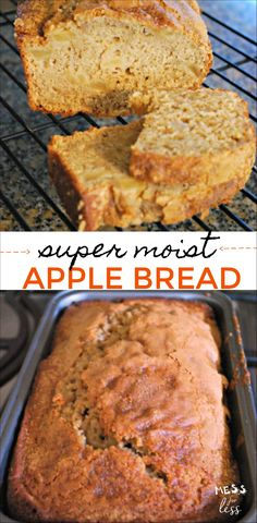 banana bread This apple bread made with apple sauce has yummy chunks of apples. It contains apple sauce which makes it yummy and moist. Recipe Using Applesauce, Baking With Applesauce, Applesauce Bread, Baking With Bananas, Blueberry Banana Bread, Moist Banana Bread, Blueberry Bread Recipe, Easy Bread Recipes, Banana Bread Recipes