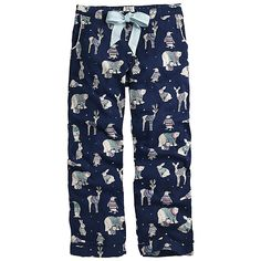 Buy Fat Face Animals In Jumpers Pyjama Pants, Navy, 12 Online at johnlewis.com
