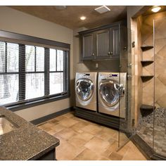 Home Is Where The Heart Is Laundry Powder Room Combo Bathroom Pinterest Powder Sliding Doors And The Doors