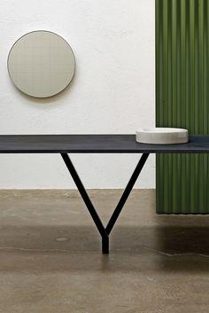 Rectangular oak table CAVALLETTA by Atipico