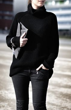 Chunky jumpers and skinny jeans.