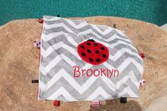 personalized blanket, baby blanket,Lady bug blanket , blanket 16 x 16 or full size 29 x 35 on Etsy, $23.00