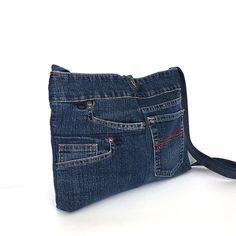 Jean crossbody bag Recycled shoulder bag Denim cross от Sisoibags