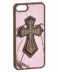 Blazin Roxx Pink Camo iPhone 5 Case with Cross #iphone5 #camo #pink #MossyOak