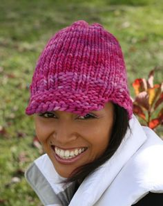 loom knitted brimmed hat