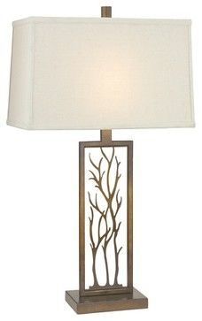 Perfect For The Upscale Lodge Bedroom. Design Classics Lighting Bronze Table  Lamp With Rectangle Shade