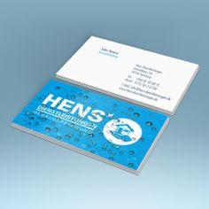 Einzigartige Visitenkarten? Für Hens Dienstleistungen haben wir diesmal eine Visitenkarte mit Relieflack umgesetzt.