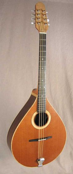 James Jones Irish Bouzouki with a redwood soundboard, indian rosewood back and sides with curly maple accents.