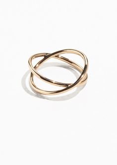 & Other Stories Crossover Ring in Gold