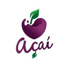 Logo Açaí, Go Logo, Best Acai Bowl Recipe, Acai Recipes, Vegan Bar, Logo Restaurant, Fruit Juice, Logo Design, Logos