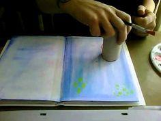 Art Journal achtergrond technieken