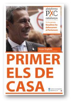 PXC. Cartell electoral: autonòmiques 2012