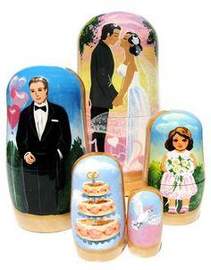 Bridal Nesting Dolls