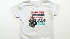 Football Sister - Little Sister - Spirit Shirt - Team Cheering - Game Day Shirt - Sibling Shirt - Ready To Ship - Sports Apparel - Football by fabuellaboutique. Explore more products on http://fabuellaboutique.etsy.com
