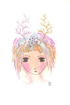 Hey, I found this really awesome Etsy listing at https://www.etsy.com/listing/222399701/print-girl-illustration-antlers-cute