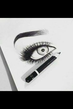 Images and videos of eyes drawings Love Drawings, Drawing Sketches, Art Drawings, Drawing Ideas, Amazing Drawings, Sketching, Let's Make Art, Sketch Painting, Pencil Portrait