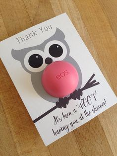 Owl themed baby shower eos lip balm party favor pink brown owl themed baby shower eos lip balm party favor gray brown negle Choice Image