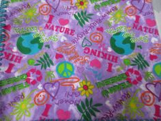 Girls purple flannel blanket add monogram$15